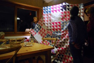 Peaks, quilt, retreats, half square triangle