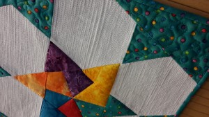 Spinning Card Trick Star Patchwork in the Peaks matchstick quilting