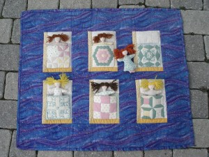 Sleepover, Mini , quilts, attic window