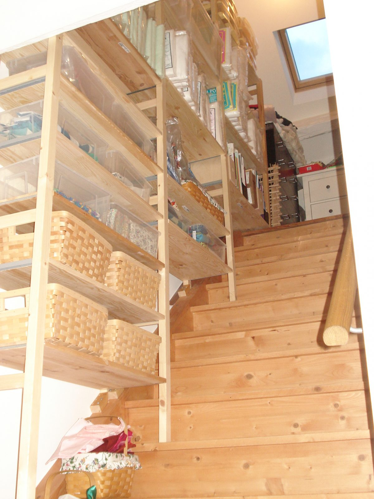 Vertical quilting storage