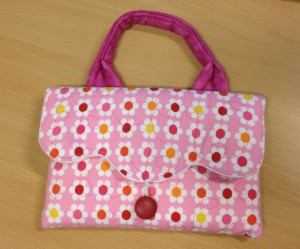 Tablet, bag, quilted