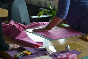 Cutting canvas fabrics