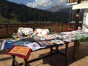 Peaks spread, quilt, retreats