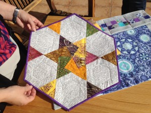 Peaks, quilt, retreat, paper piecing