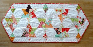 Miss Lynne's Spinning Card Trick Star Table Runner Patchwork in the Peaks