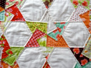 Miss L's Spinning Card Trick Star Table Runner Patchwork in the Peaks