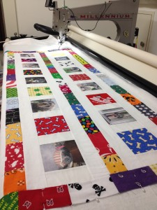 Ready to quilt on Indy the Longarm