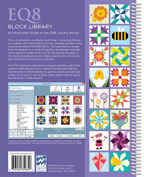 EQ8 Block Library, Electric Quilt
